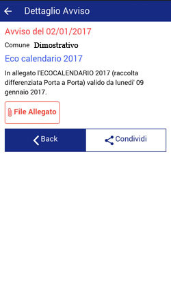 Il Comune Informa 2.0 - Notifica dettaglio