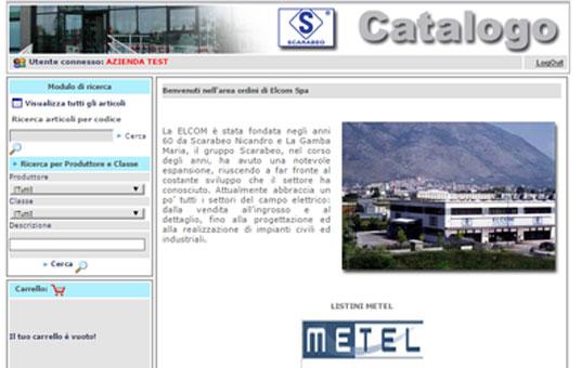 Portale B2B di Elcom Elettrocommerciale S.p.A.