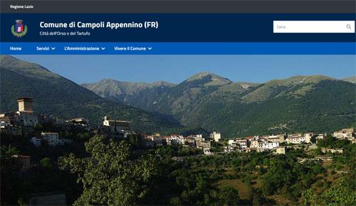 E' online il nuovo sito del comune di Campoli Appennino (FR)
