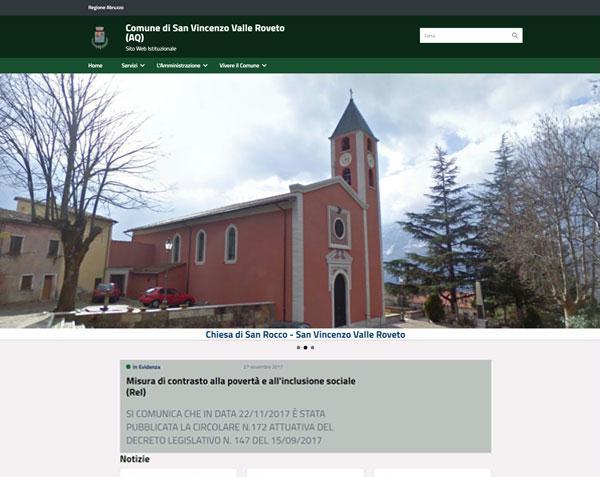 E' online il nuovo sito del comune di  San Vincenzo Valle Roveto (AQ)