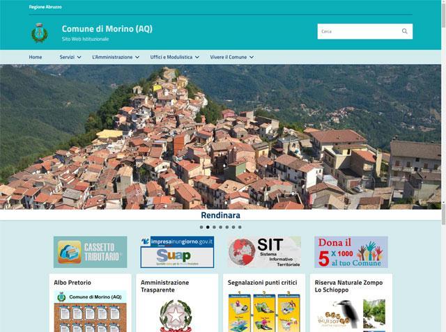E' online il nuovo sito del Comune di Morino(AQ)