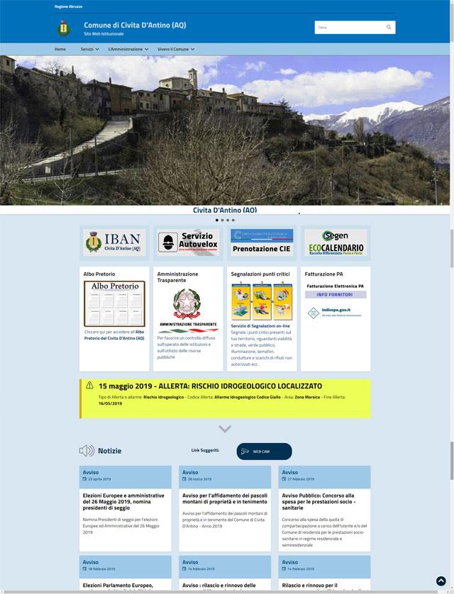 E' online il nuovo sito del Comune di Civita D'Antino (AQ)