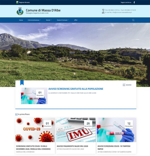 E' online il nuovo sito del Comune di Massa D'Albe (AQ)