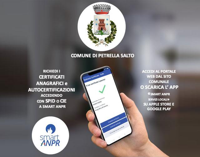 Petrella Salto (RI): attivato nuovo servizio Smart ANPR: certificati anagrafici da app e portale web